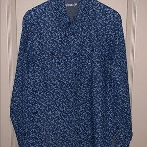 Men's gap floral denim shirt